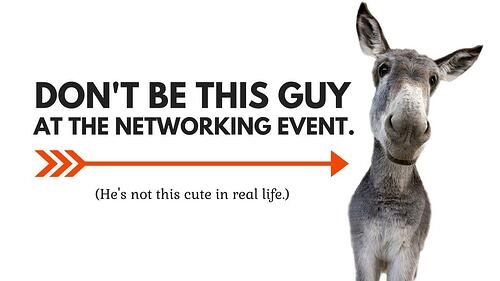 Learn to listen at networking events
